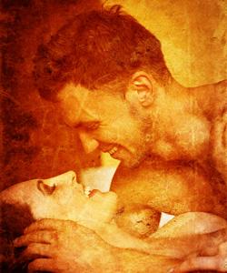 masculine feminine sensual couple lovemaking